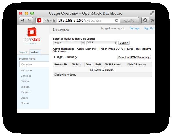 rackspace openstack dashboard
