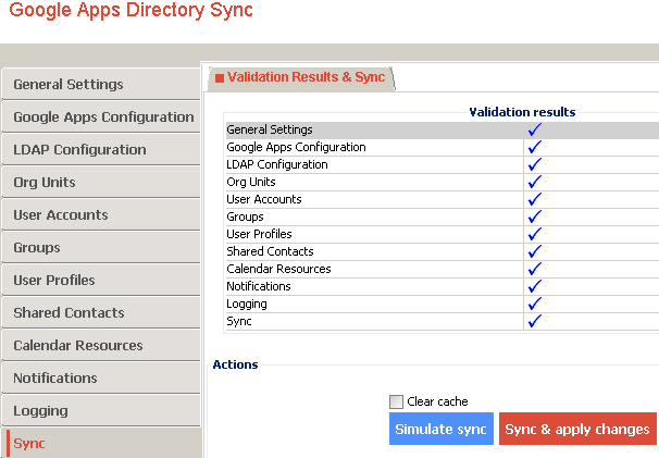 google apps directory sync