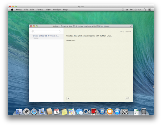 mac os x running on linux kvm